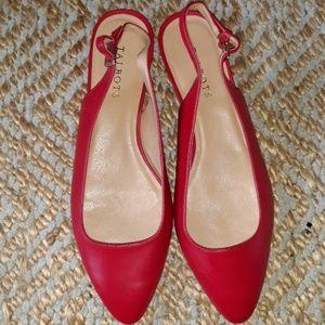 Candy apple sling back shoe